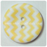 "Yellow Chevron 1"" Buttons - by the button"